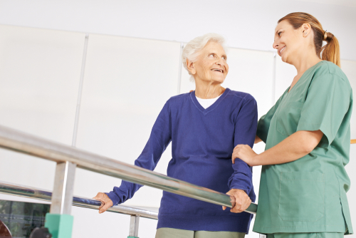 Physical therapy for seniors improve their balance and flexibility.
